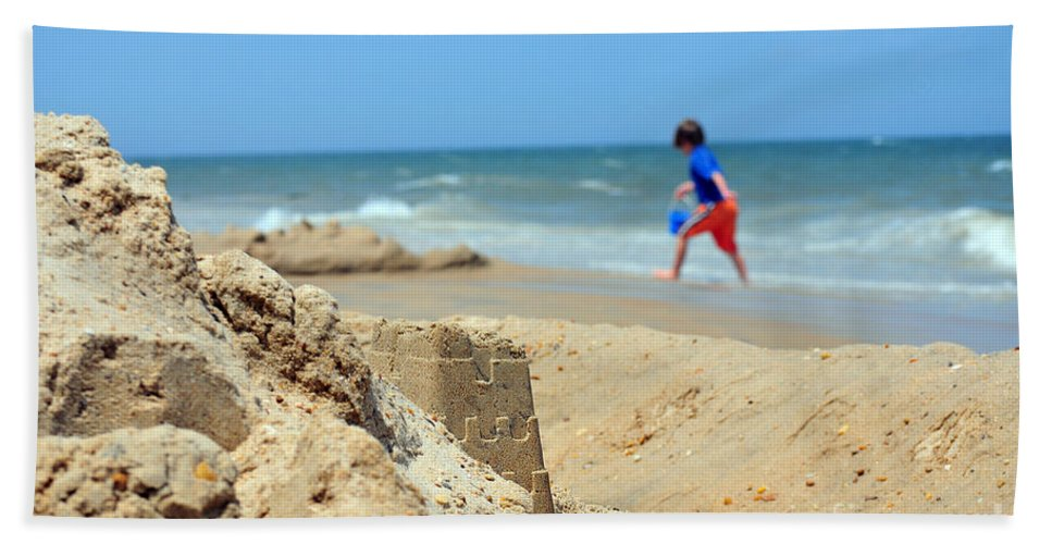Beach Bath Sheet featuring the photograph Seascape 101 by Terri Winkler
