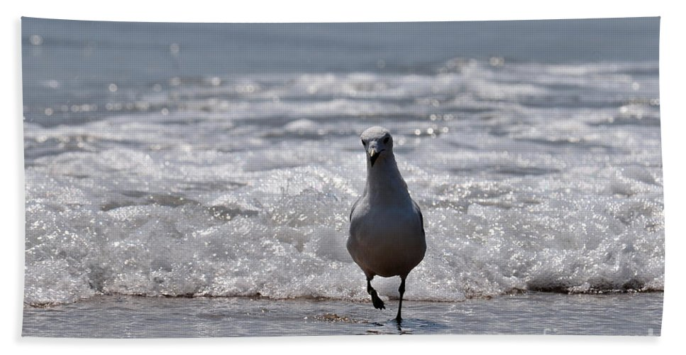 Beach Bath Sheet featuring the photograph Seascape 85 by Terri Winkler