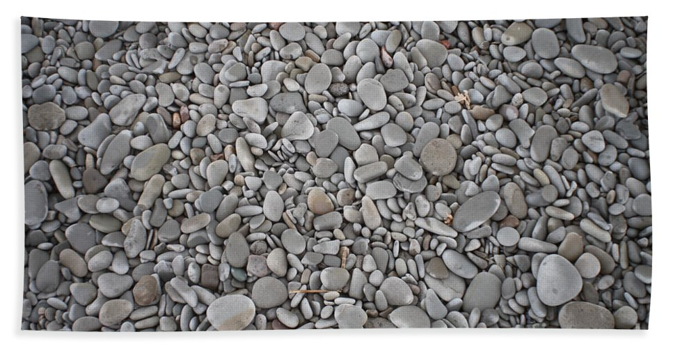 Canada Hand Towel featuring the photograph Seashore Rocks by Ted Kinsman