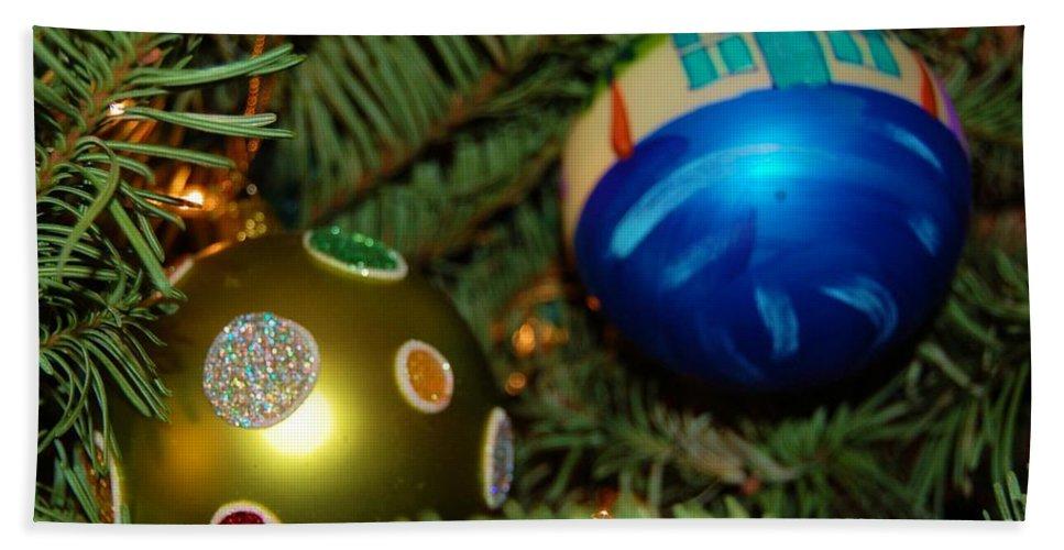 Christmas Bath Sheet featuring the photograph Seasons Greetings by Debbi Granruth