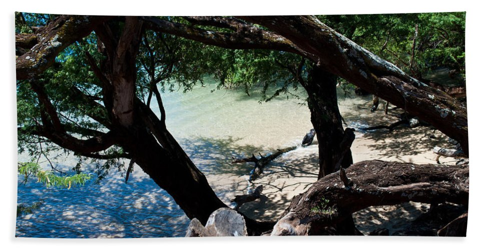 Interior Design Hand Towel featuring the photograph Secluded Beach by Paulette B Wright