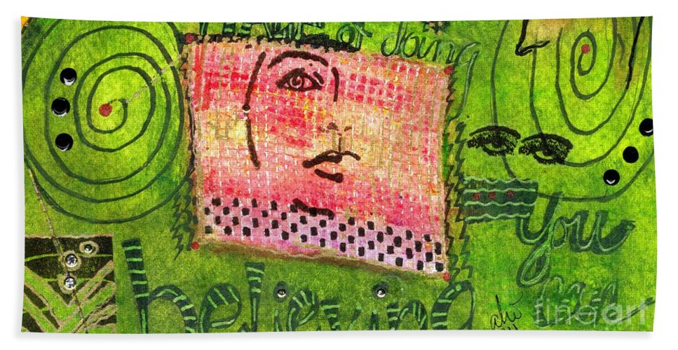 Women Hand Towel featuring the mixed media Self-assurance by Angela L Walker
