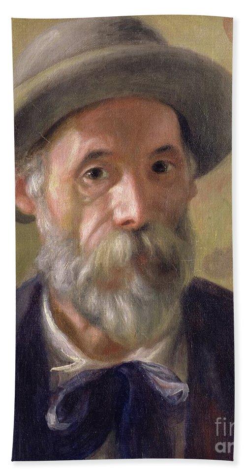 Pierre Auguste Renoir Bath Sheet featuring the painting Self Portrait by Pierre Auguste Renoir