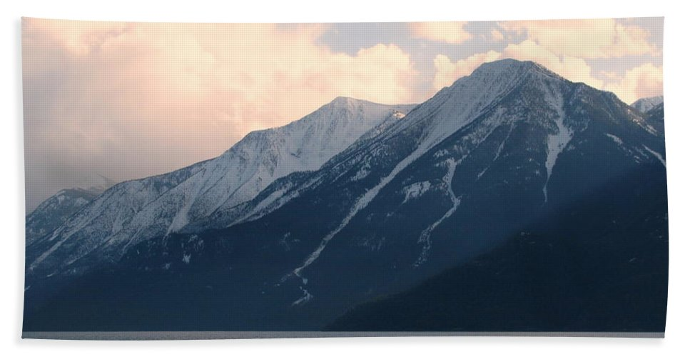 Selkirk Hand Towel featuring the photograph Selkirk Mountains by Leone Lund