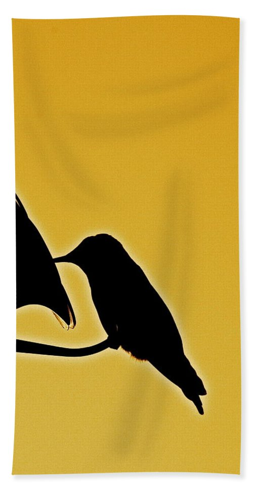 Birds Bath Sheet featuring the photograph Sepia Silhouette by Diana Hatcher