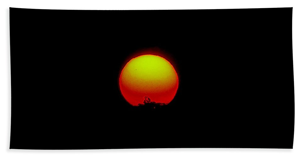 Sunset Bath Sheet featuring the photograph September 24 2010 by Mark Gilman