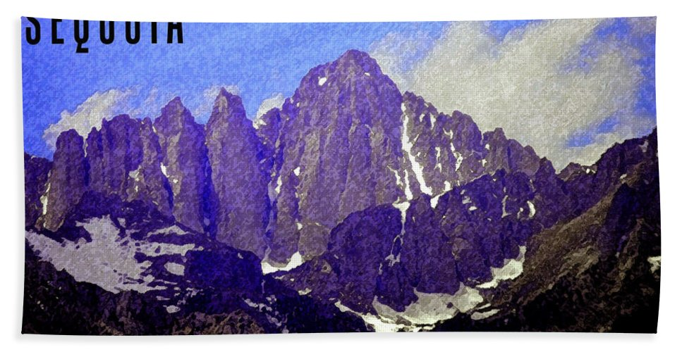 Art Bath Sheet featuring the painting Sequoia by David Lee Thompson