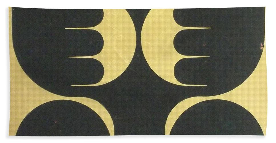 Abstract Bath Sheet featuring the painting Seraphim by James Hamilton