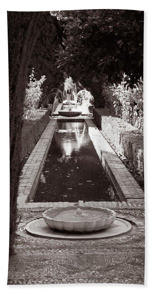 Granada Bath Sheet featuring the photograph Serenity In Sepia by Lorraine Devon Wilke