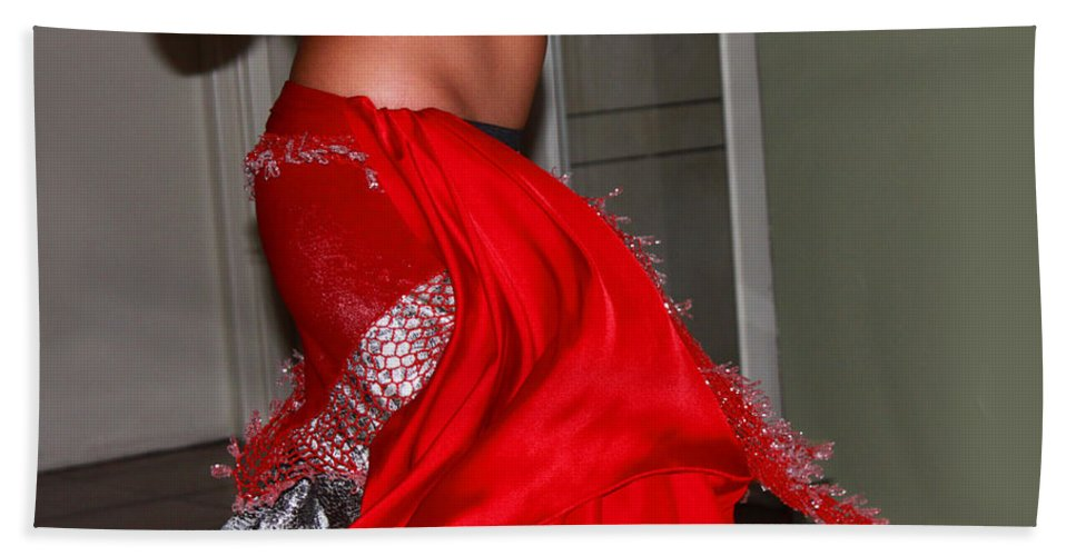 Belly Dancer Bath Sheet featuring the photograph Sexy Belly Dancer by Augusta Stylianou