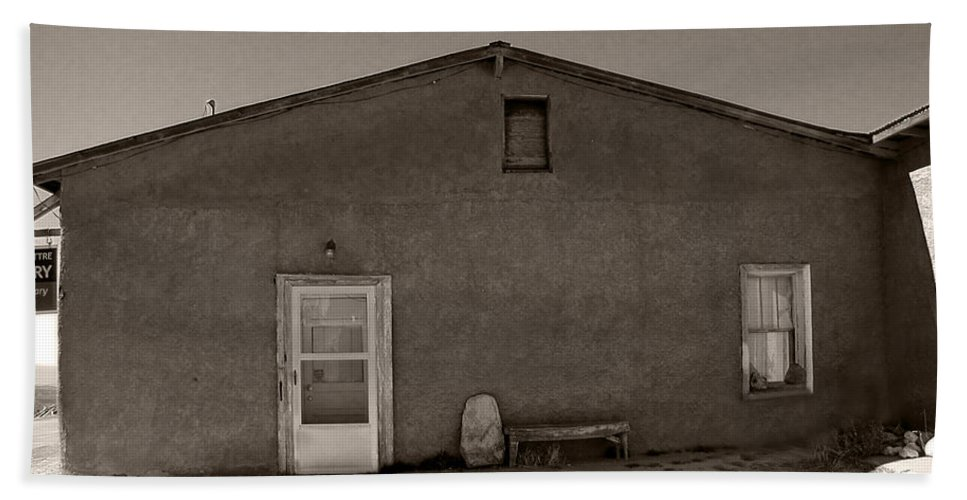 New Mexico Hand Towel featuring the photograph Shaded Adobe by Kathleen Grace
