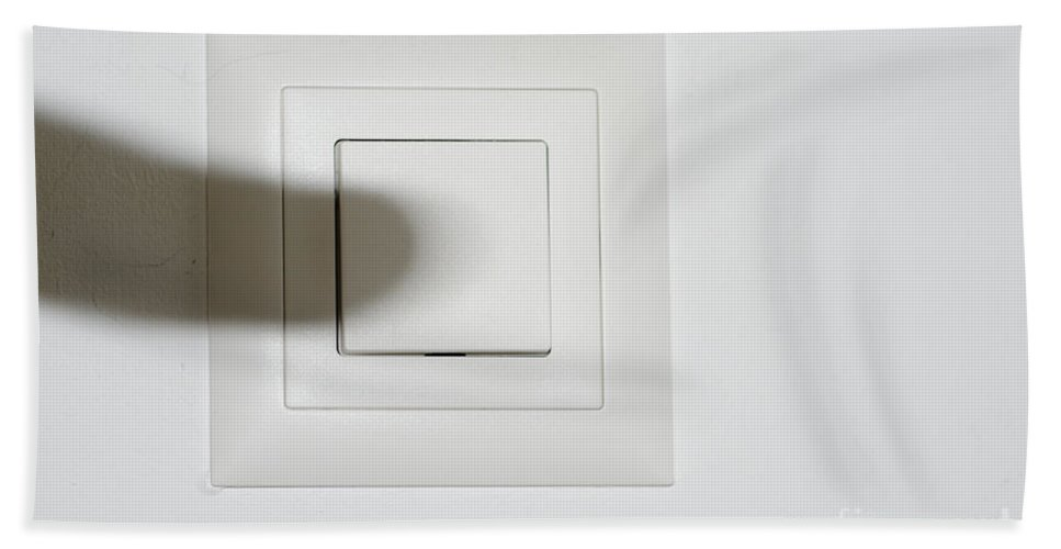 Shadow Bath Sheet featuring the photograph Shadow Switch On The Light by Mats Silvan