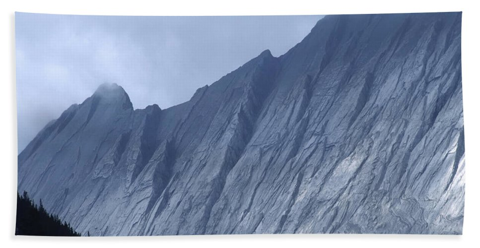 Alberta Hand Towel featuring the photograph Sheer Mountain Face by Roderick Bley