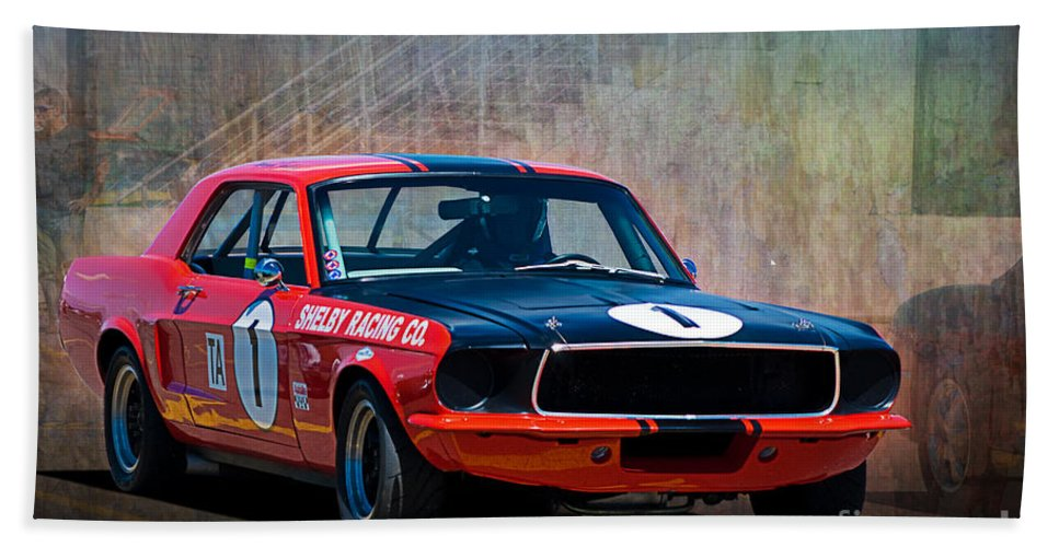 Ford Bath Sheet featuring the photograph Shelby Racing Co Mustang by Stuart Row