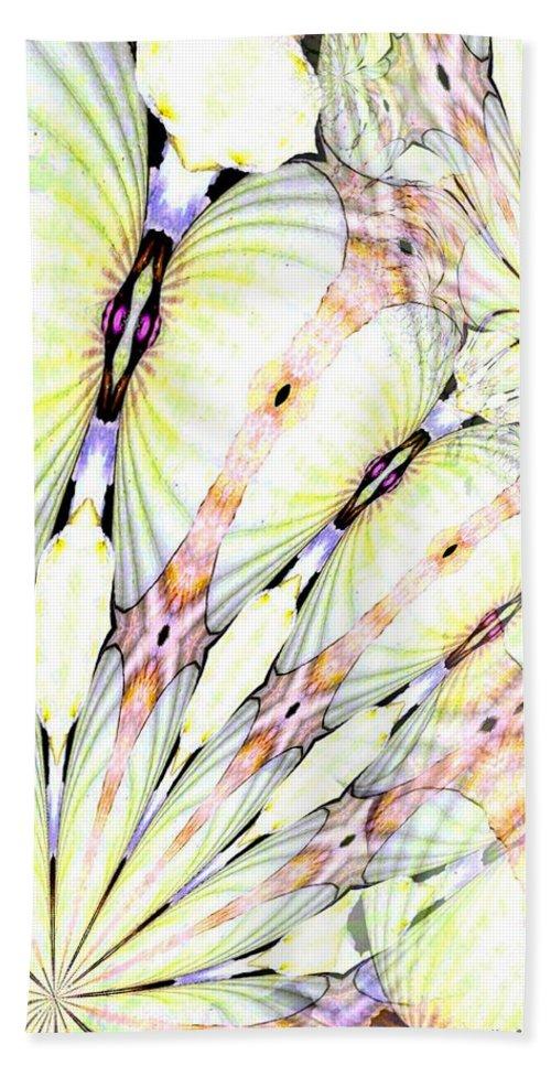 Shell Art Bath Sheet featuring the digital art Shell Art 3 by Maria Urso