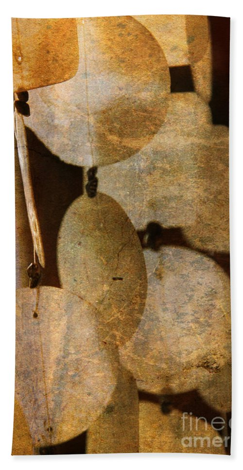 Shell Bath Sheet featuring the photograph Shell Wind Chimes by Susanne Van Hulst