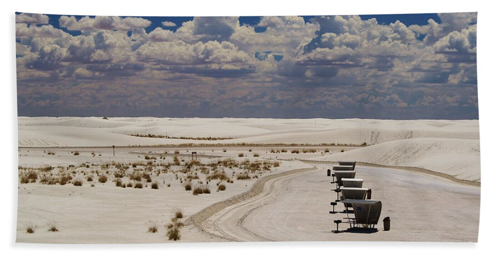 Roena King Bath Sheet featuring the photograph Shelters From The Afternoon Sun by Roena King