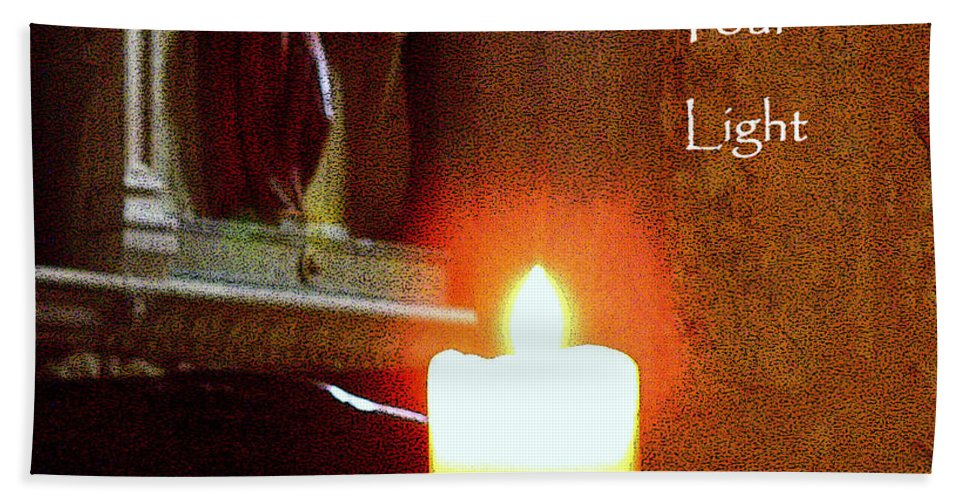 Spiritual Bath Sheet featuring the photograph Shine Your Light by Lainie Wrightson