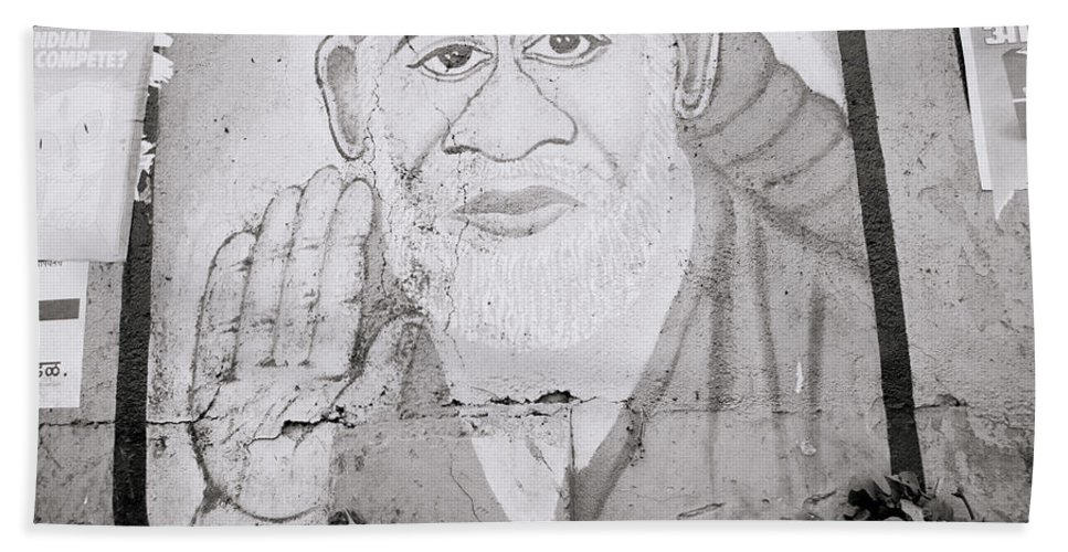 Asia Bath Sheet featuring the photograph Shirdi Sai Baba In Bombay by Shaun Higson