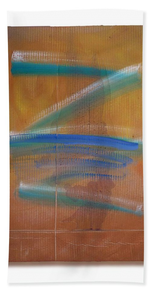 Tsunami Bath Sheet featuring the painting Shock Tide Two by Charles Stuart