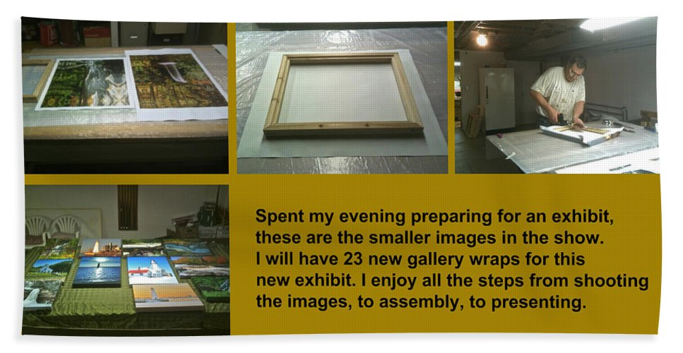 Show Bath Sheet featuring the photograph Show Preparations by Michael Peychich