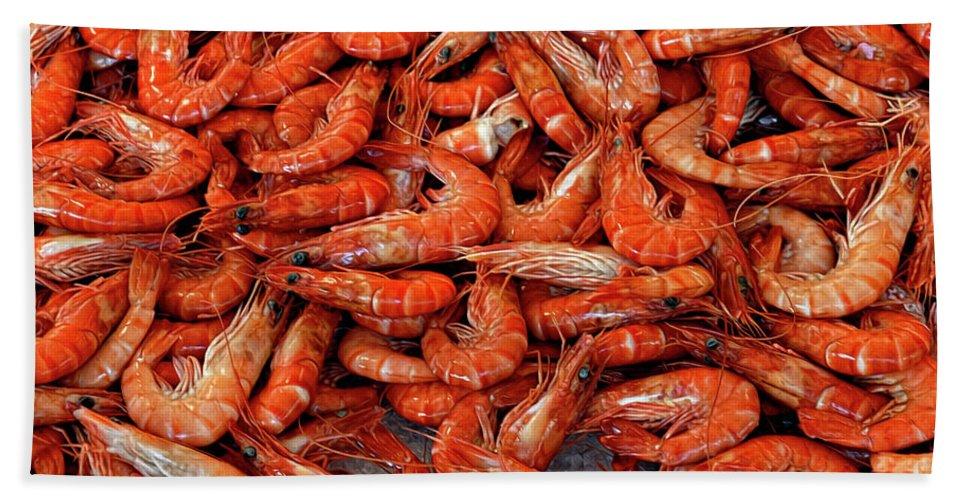 Shrimp.prawns Hand Towel featuring the photograph Shrimp by Dave Mills
