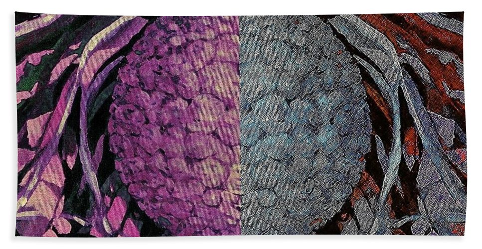 Fruit Multicolor Composition Poster Popart Hand Towel featuring the photograph Siblings by Andrew Drozdowicz