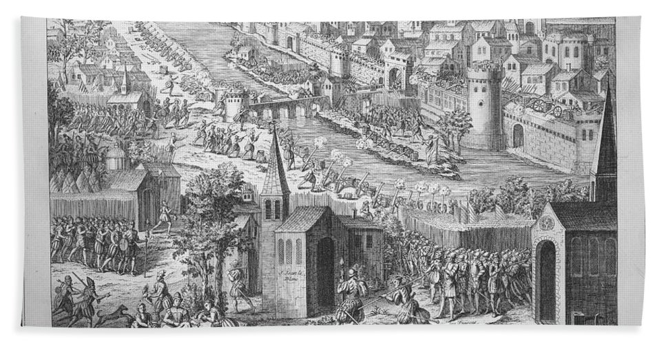 1429 Hand Towel featuring the photograph Siege Of Orleans, 1428-1429 by Granger