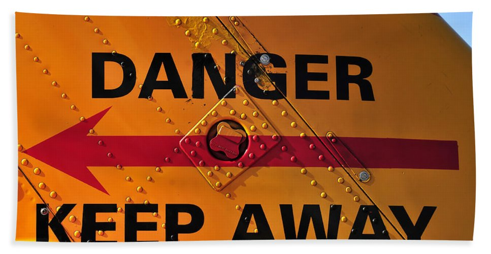 Photography Bath Sheet featuring the photograph Signs Of Danger by David Lee Thompson