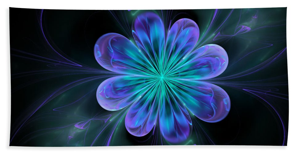 Abstract Hand Towel featuring the digital art Silk Of The Orient by Georgiana Romanovna