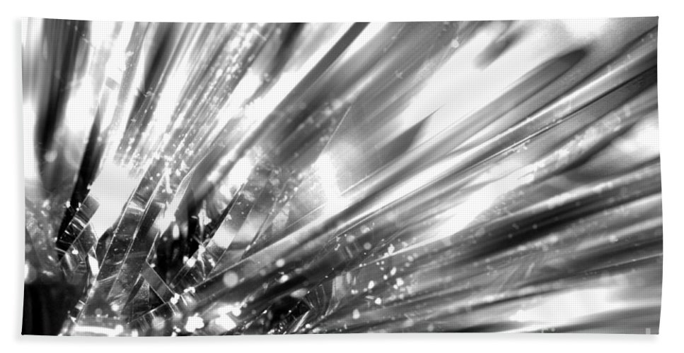Silver Hand Towel featuring the photograph Silver Explosion by Simon Bratt Photography LRPS