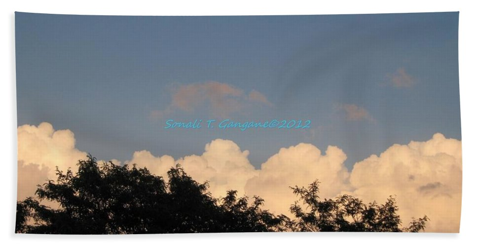 Silver Clouds Bath Towel featuring the photograph Silver Layer by Sonali Gangane