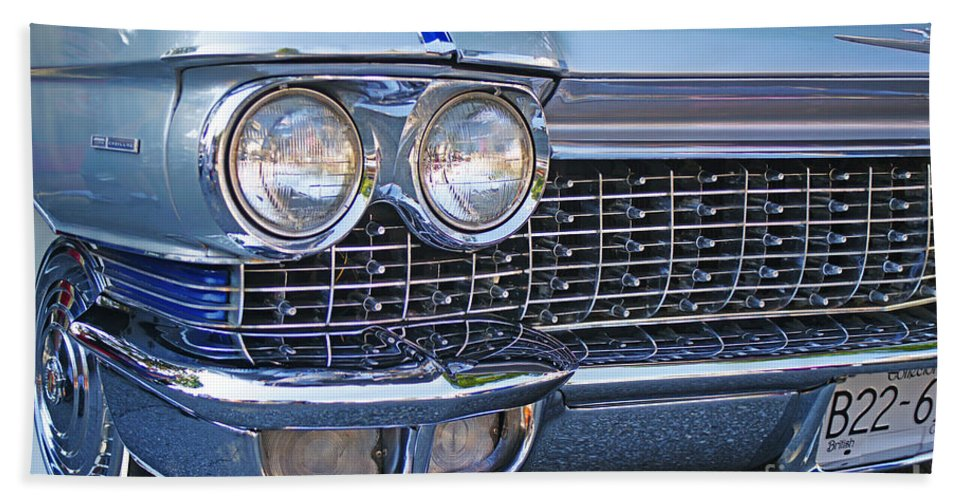 Old Cars Bath Sheet featuring the photograph Silver Lines And Designs by Randy Harris
