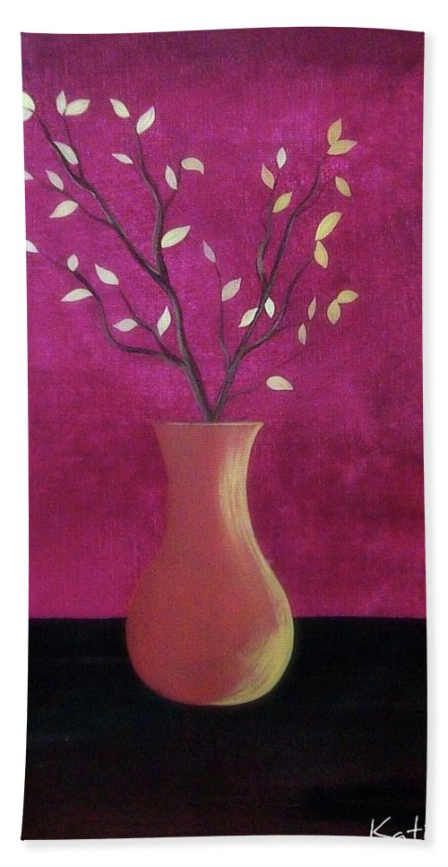 Branches Bath Sheet featuring the painting Simple Elegance by Katie Slaby