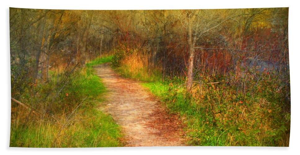 Path Hand Towel featuring the photograph Simple Pathways by Tara Turner