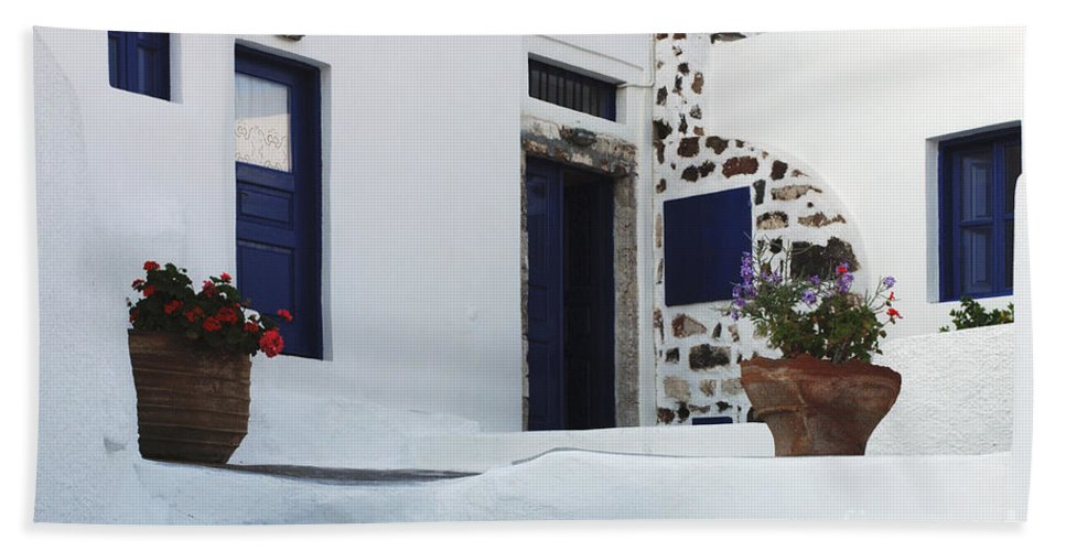 Greek Architecture Bath Sheet featuring the photograph Simplicity Of Design by Bob Christopher