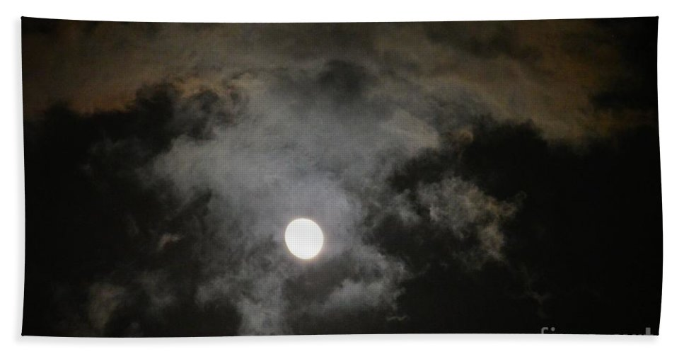 Sinister Skies Hand Towel featuring the photograph Sinister Skies by Maria Urso