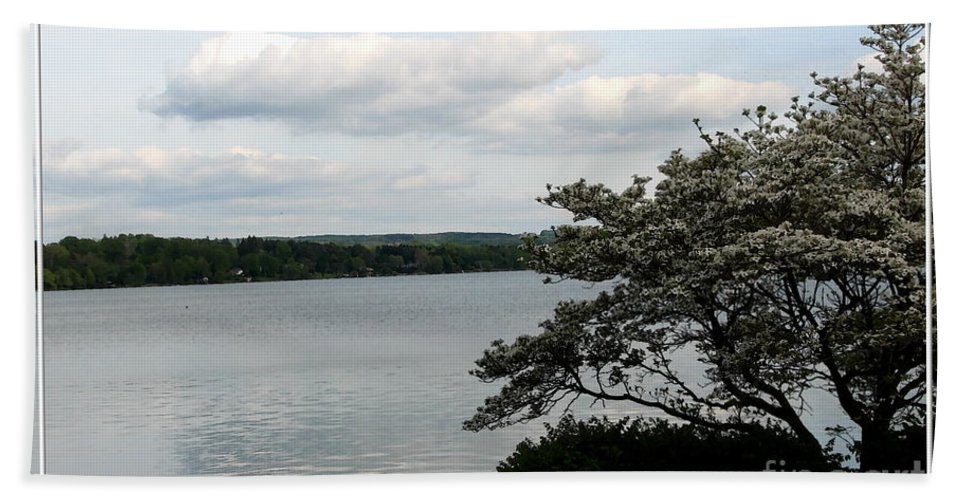 Skaneateles Lake Hand Towel featuring the photograph Skaneateles Lake In Ny Finger Lakes Water Color Effect by Rose Santuci-Sofranko