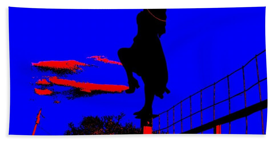 Silhouette Bath Sheet featuring the photograph Sky Dancer by Chris Berry