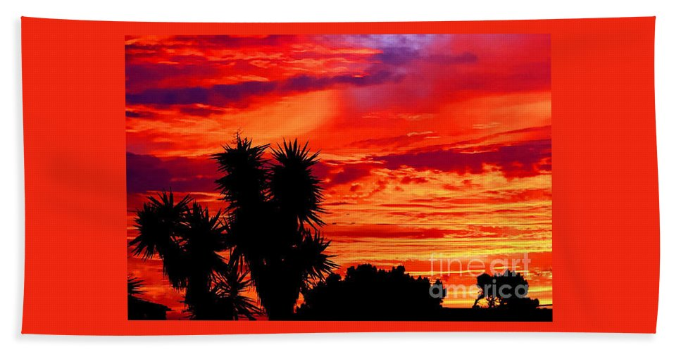 Coastal Photos Bath Sheet featuring the photograph Morro Bay California Sky Fire by Tap On Photo