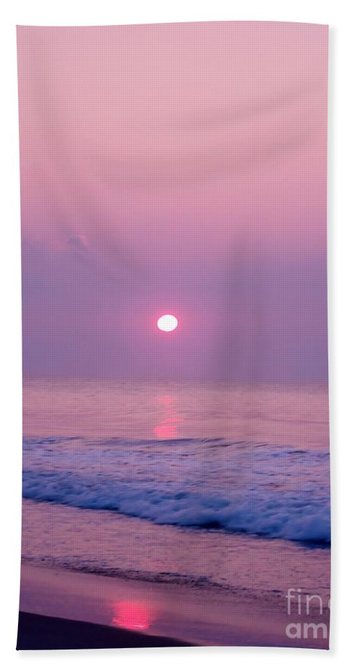 Sunrise Hand Towel featuring the photograph Slither Sun by Art Dingo