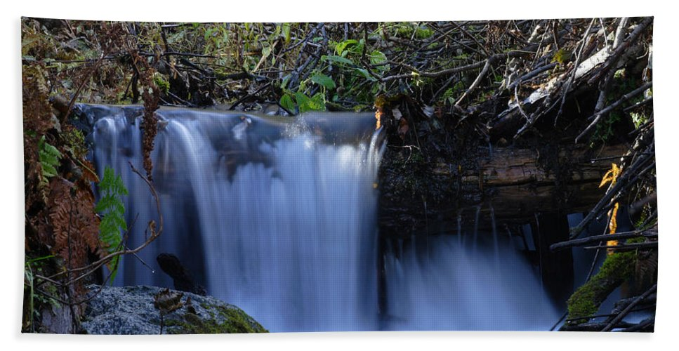 Doug Lloyd Hand Towel featuring the photograph Small Falls by Doug Lloyd