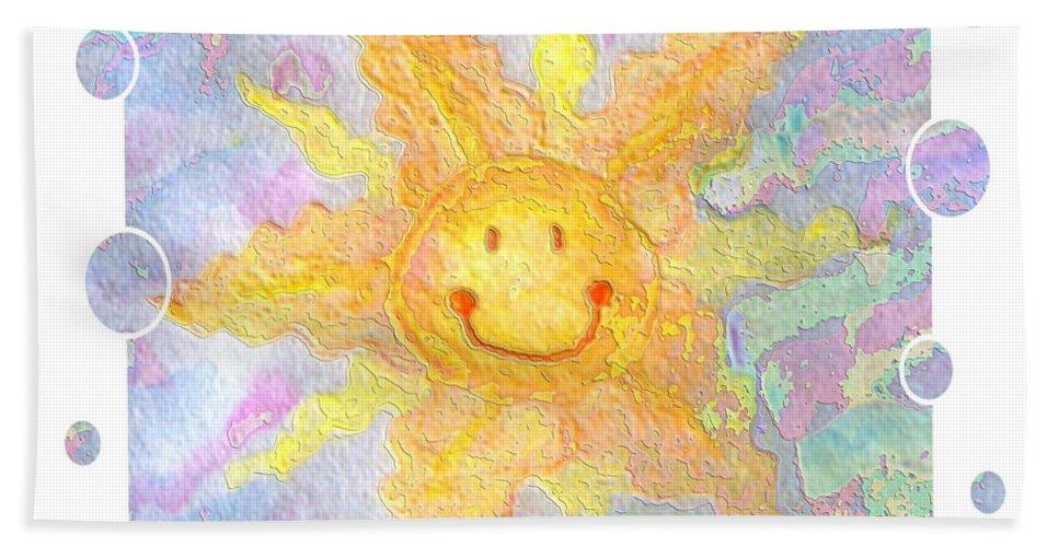 Bath Sheet featuring the digital art Smile by Debbie Portwood
