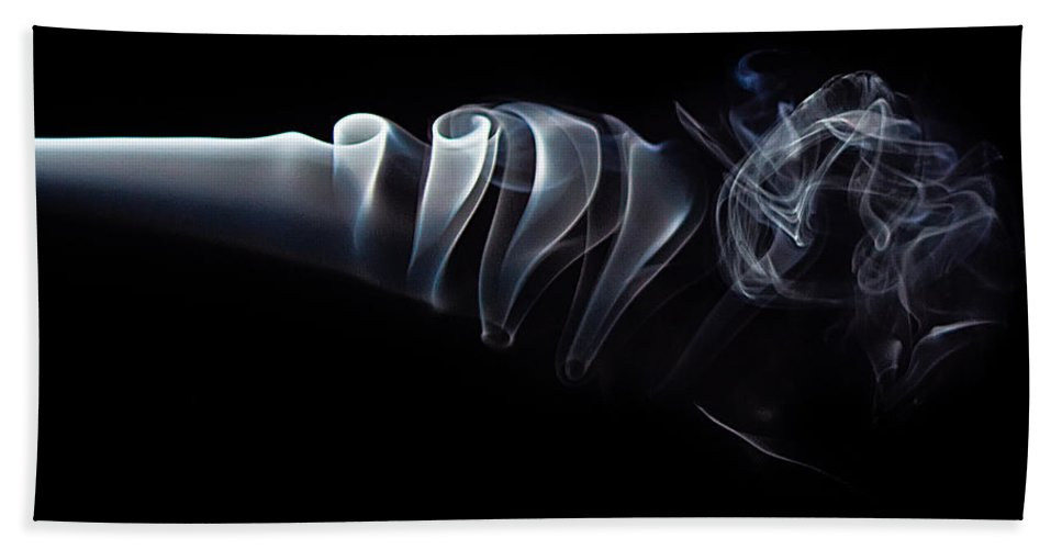 Abstract Bath Sheet featuring the photograph Smoke 6 by Dan Wells