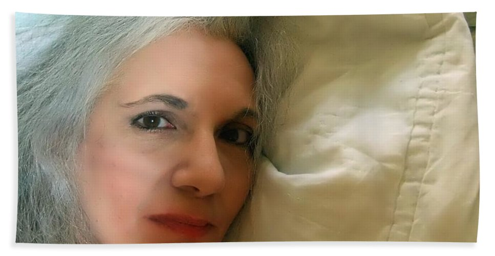Portrait Hand Towel featuring the photograph Smudged Lipstick II by RC DeWinter