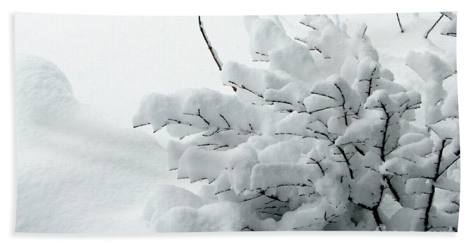 Snow Bath Sheet featuring the photograph Snow Abstract 2 by Barbara Griffin