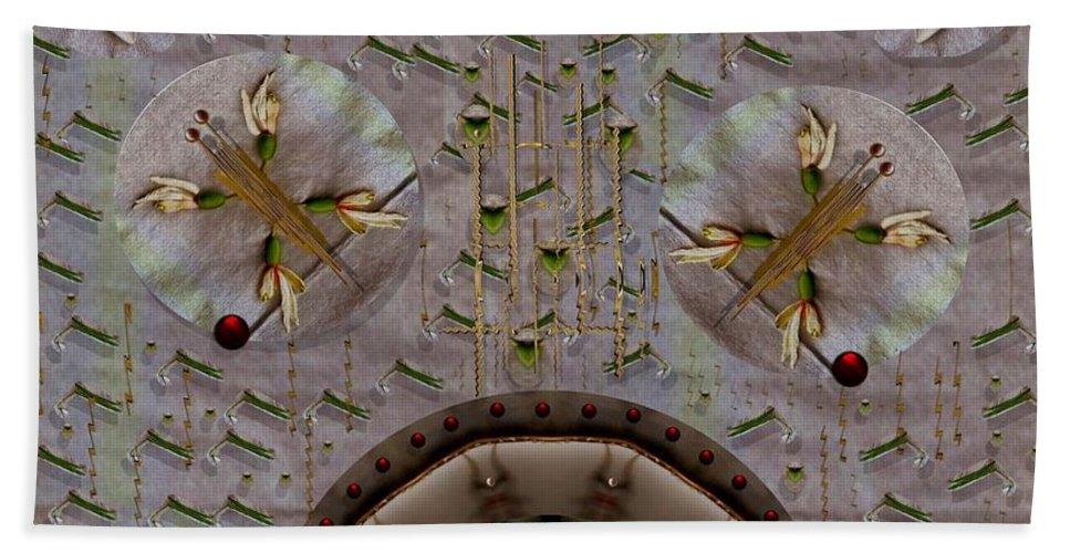 Landscape Hand Towel featuring the mixed media Snow Flowers And Orchids In Heavenly Wisdom by Pepita Selles