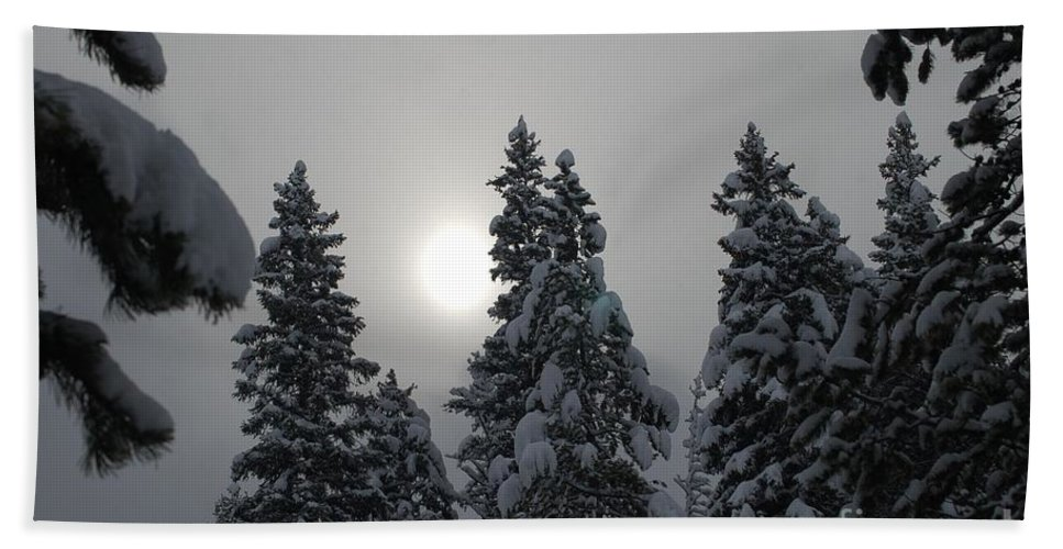 Snow Bath Sheet featuring the photograph Snow Sun by Lucy Bounds