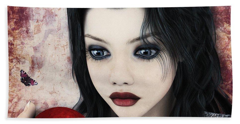 3d Hand Towel featuring the digital art Snow White by Jutta Maria Pusl