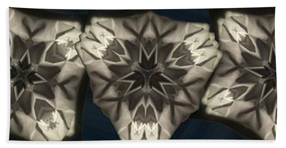 Collage Bath Sheet featuring the digital art Snowflakes by Ron Bissett